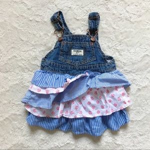 OshKosh 12 Month Layered Overall Dress
